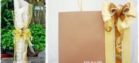 2013年9月份生活花藝美學教室~送給感恩的你(酒瓶包裝設計、紙袋造型設計)