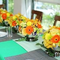 鮮亮黃橘色下午茶派對