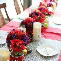 溫暖紅色聖誕下午茶派對
