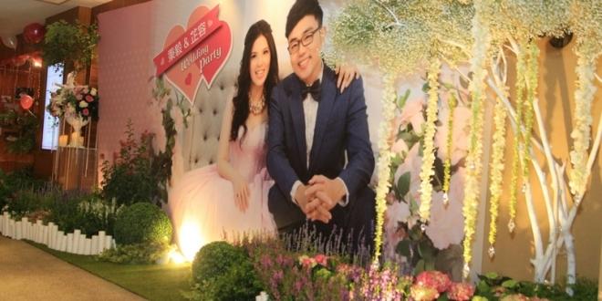專業高雄婚禮佈置綺麗屋│高雄國賓飯店粉紅婚禮派對