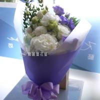 【AA121】浪漫紫色桔梗花束|高雄花店綺麗屋