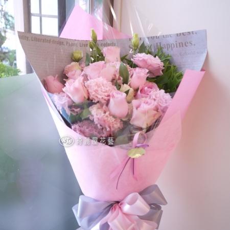 完美情人粉玫瑰花束【AA138】高雄花店綺麗屋