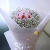 莓好花束-白 (季節限定)【AA140】高雄花店綺麗屋
