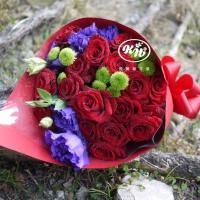 謝謝妳愛我紅玫瑰花束【AA136】高雄花店綺麗屋