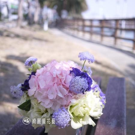 典雅藝術桌花【EA060】 高雄花店綺麗屋