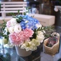 典雅藝術桌花【EA061】高雄花店綺麗屋