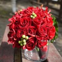 紅玫瑰新娘捧花【GA044】高雄花店綺麗屋