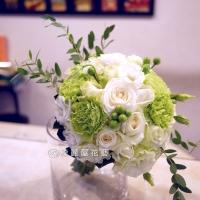 白玫瑰新娘捧花【GA043】高雄花店綺麗屋