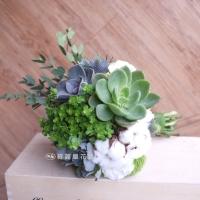 多肉植物新娘捧花【GA046】高雄花店綺麗屋