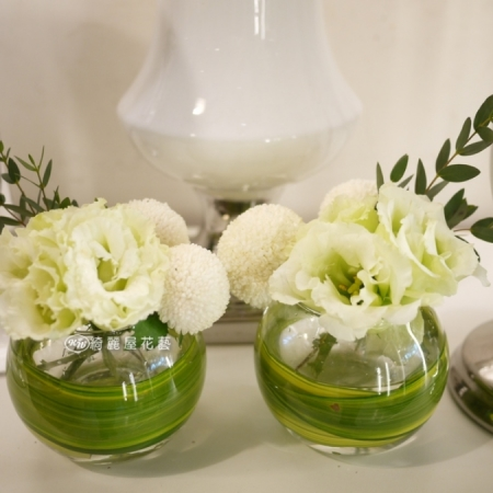 小型精緻桌花【EA077】高雄花店綺麗屋