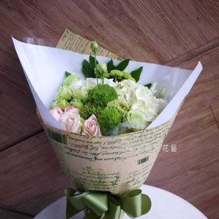 桔梗與玫瑰花束【AA145】 高雄花店綺麗屋