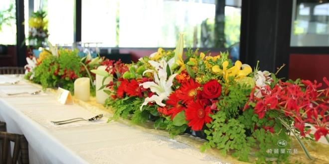 專業高雄婚禮佈置綺麗屋│左創食不二幸福婚禮餐桌佈置