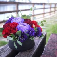 高雄花店綺麗屋|精緻藝術桌花【EA082】