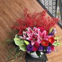 高雄花店綺麗屋|精緻藝術桌花【EA085】