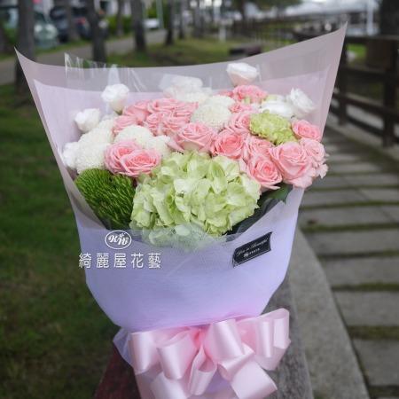 浪漫七夕情人節花束【AA158】高雄花店綺麗屋