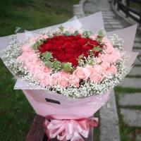 雙色玫瑰七夕情人節花束【AA172】1