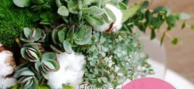 多肉植物小花束課程|2018.07.10高雄花店綺麗屋專業教室