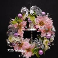 幸福粉紅聖誕花圈【HA002】