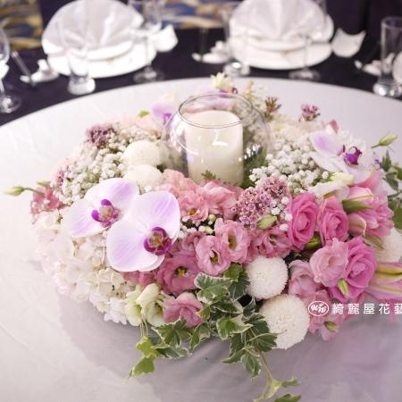 精緻玻璃花器盆花【EA093】