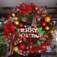 豪華聖誕花圈【HA009】