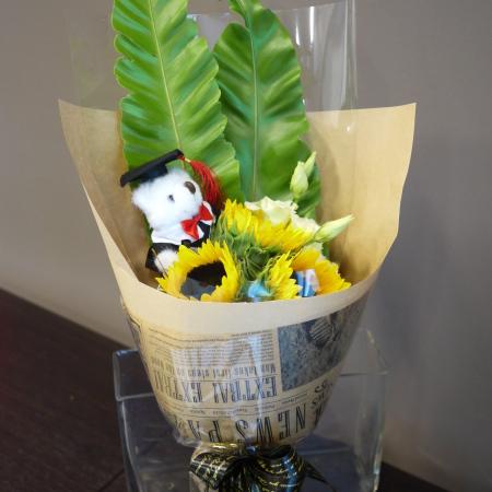 畢業小熊向日葵花束【AA175】