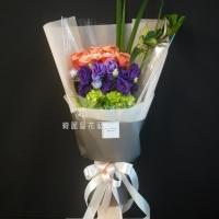 玫瑰與桔梗花束【AA191】高雄花店綺麗屋