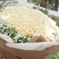 99朵玫瑰花束-進口白玫瑰花【AA208】高雄花店綺麗屋