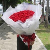 99朵玫瑰花束-進口紅玫瑰花【AA209】高雄花束訂購