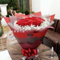 99朵玫瑰花束-進口紅玫瑰花【AA210】高雄花束訂購