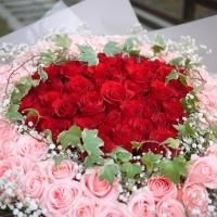 99朵玫瑰花束-紅粉雙色【AA211】高雄花束訂購