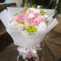 情約今世浪漫情人花束【AA205】高雄花店網路訂花