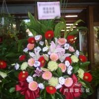喜氣紅高架花籃(一對)【BA096】高雄花店綺麗屋網路訂花