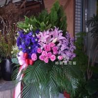 喜氣紅祝賀高架花籃(單支)【BA104】高雄花店綺麗屋網路訂花